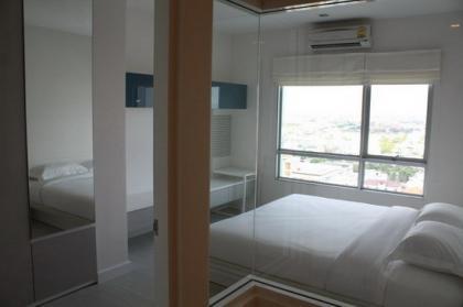 ให้เช่า เดอะรูม รัชดา-ลาดพร้าว 1 ห้องนอน 41 ตรม.ชั้น19 วิวสวยพร้อมเฟอร์